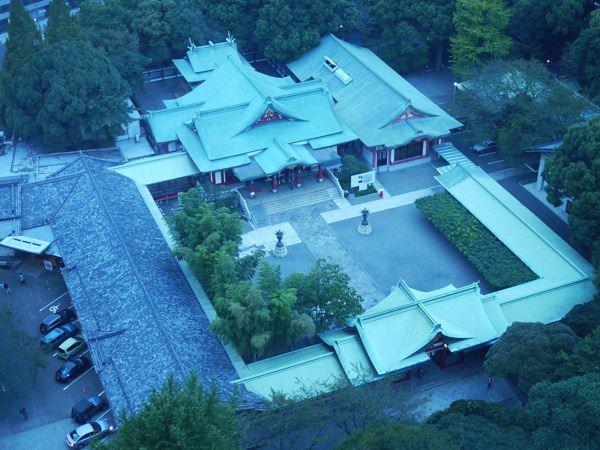 窓からの景色 日枝神社