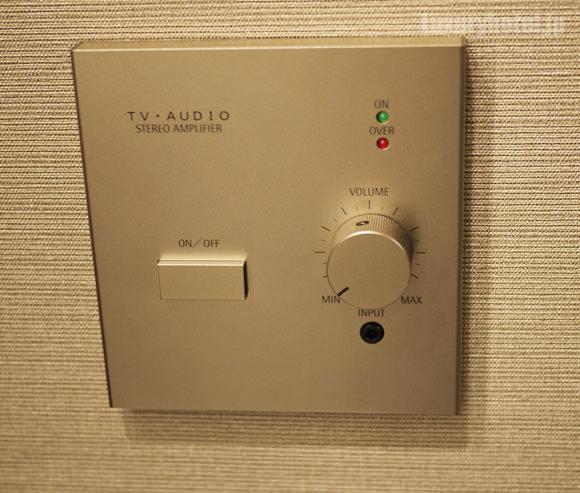 ザ・キャピトルホテル 東急 壁のオーディオパネル拡大画像