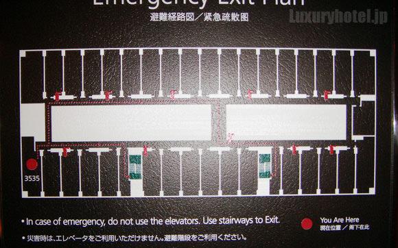 シャングリ・ラホテル東京プレミアルームのフロア内の位置画像