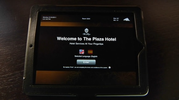 プラザホテルiPad画像