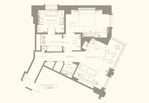ペニンシュラ東京スイートルーム見取り図