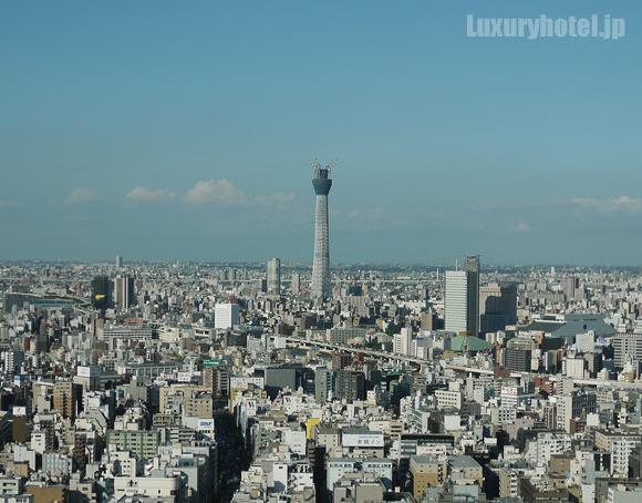 マンダリンオリエンタル東京から見えるスカイツリー