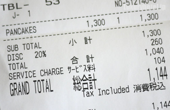 帝国ホテル東京 パンケーキ 料金