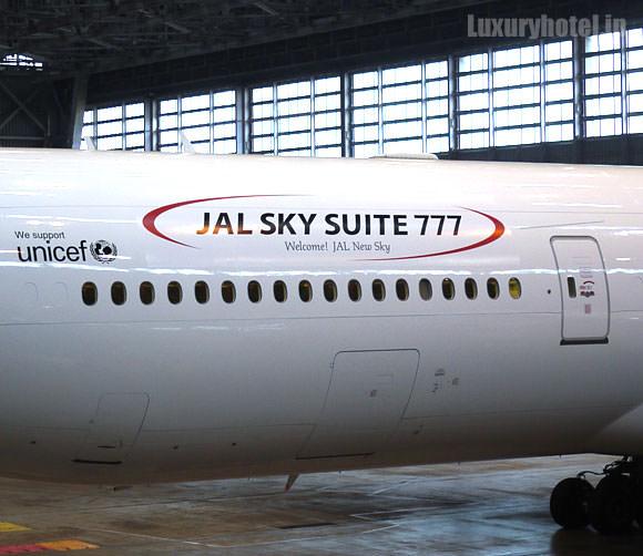 JAL 777新シート体験会 機体画像 胴体