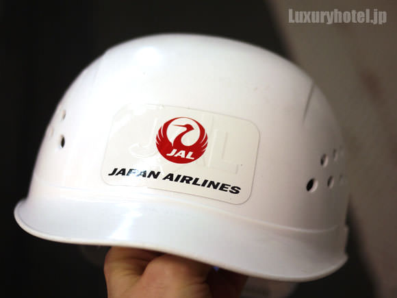 JAL 777新シート体験会 ヘルメット