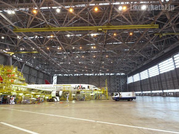 JAL 777新シート体験会 格納庫