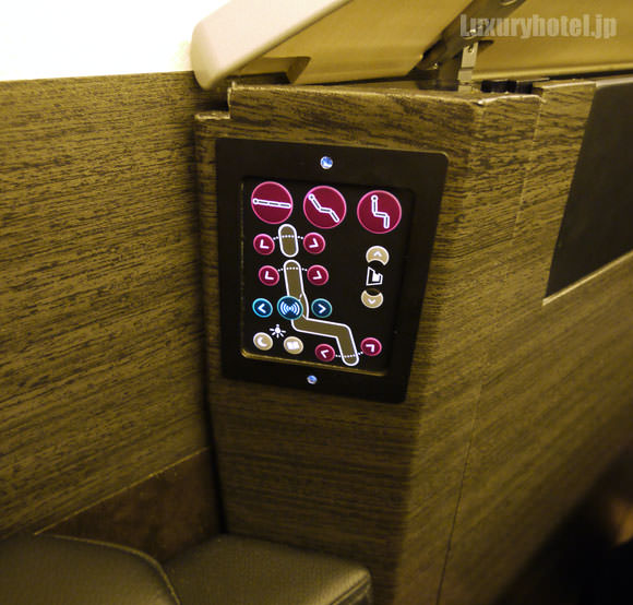 JAL 777新シート ビジネスクラス 座席のコントローラー
