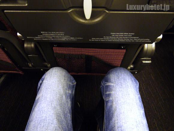 JAL 777新シート体験会 エコノミークラス 座ってみた