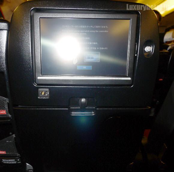JAL プレミアムエコノミー 新シート 液晶モニター