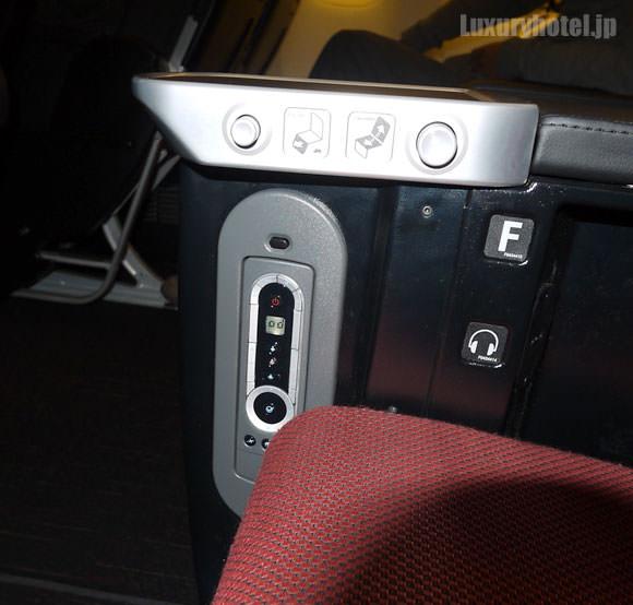 JAL プレミアムエコノミー 新シート コントローラー