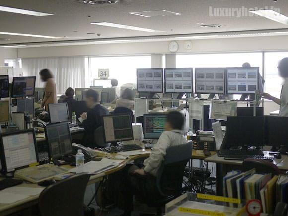 JAL ステーションコントロールセンター内