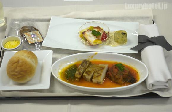 JAL ファーストクラス 機内食 全体図