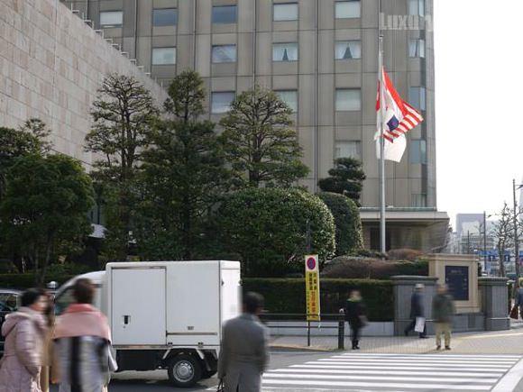 日比谷駅をでた景色と帝国ホテル