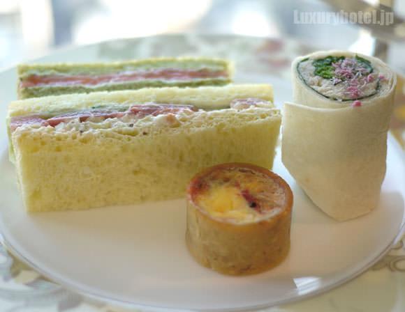サクラアフタヌーンティー サンドイッチ