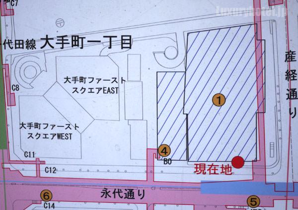 大手町タワーの地図