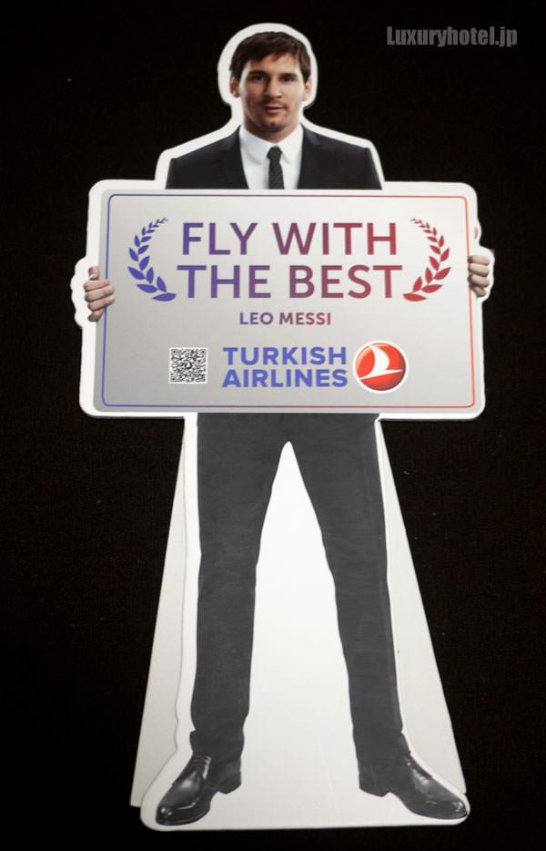 トルコ航空 メッシのミニ立て看板