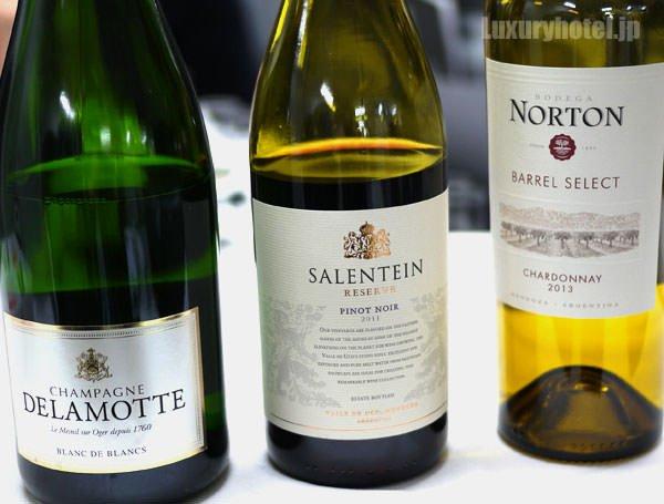 JAL見学会 機内食で出るワイン ボデガ・ノートンとピノ・ノワール・レゼルヴ・サレンタイン