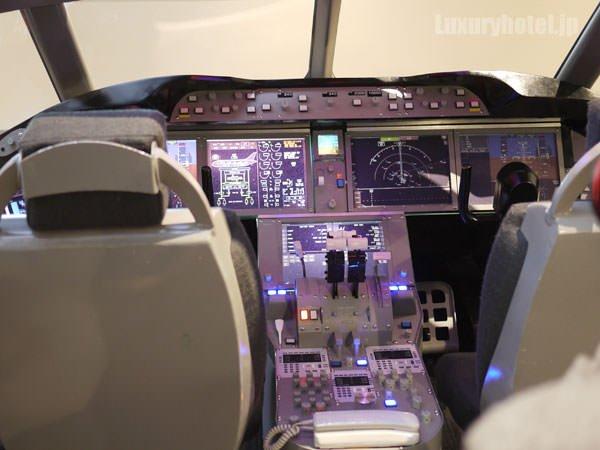 JAL 「SKY MUSEUM」 コクピット模型