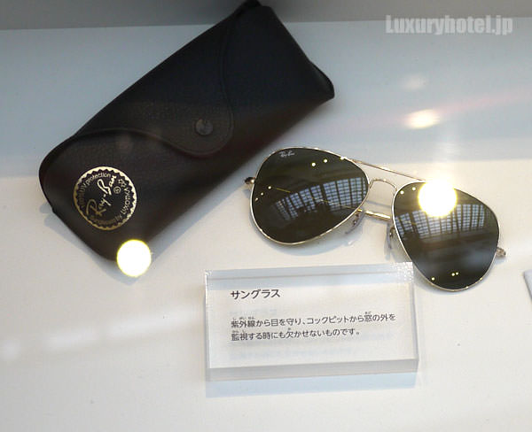 JAL 「SKY MUSEUM」 仕事紹介エリア レイバンのサングラス