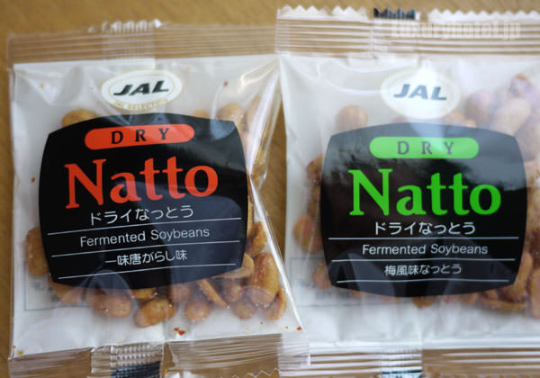 JAL 「SKY MUSEUM」 ドライなっとうには2種類の味が入っている