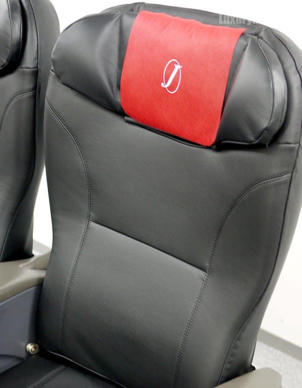 JAL特別見学会 シートモックアップ 「JAL SKY NEXT」新クラスJ 総革張りのシート
