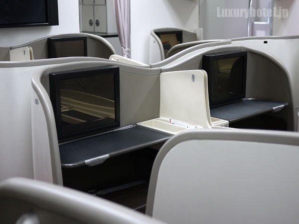 JAL特別見学会 シートモックアップ ファーストクラス
