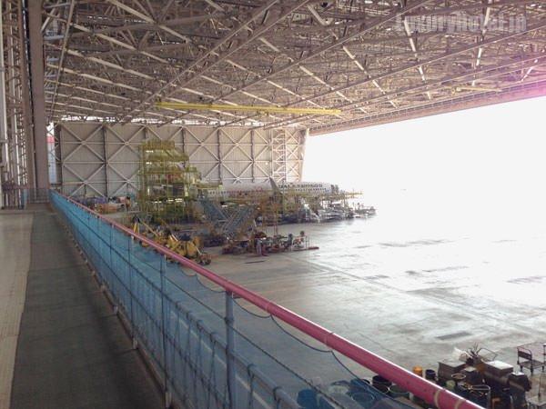 JAL 整備工場 驚くほど広い