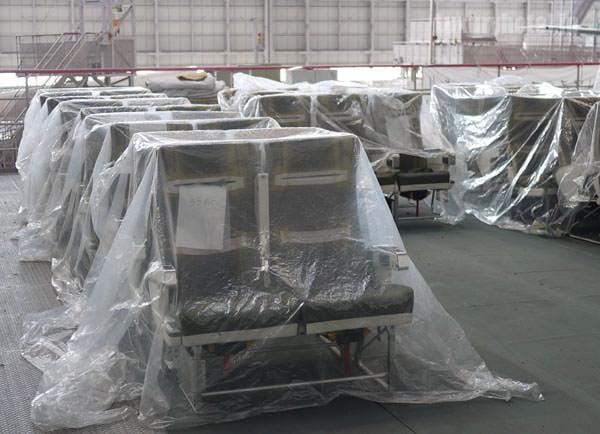 JAL 整備工場 設置予定のシート