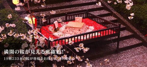 プリンスホテル 桜まつり ステーキハウス桂の桟敷席