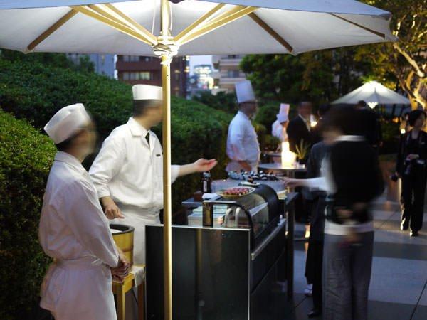 グランド ハイアット 東京 テラスパーティ風景