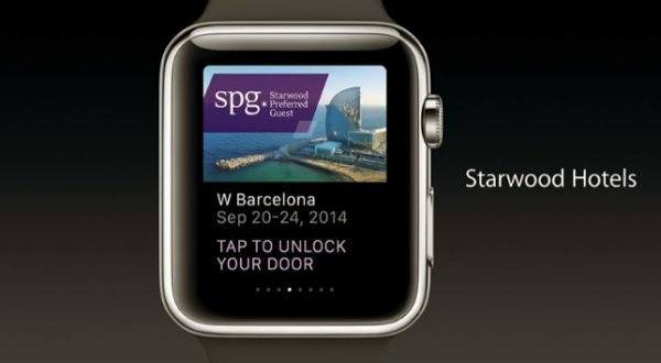 アップルウォッチ スターウッドホテルチェックイン画面2