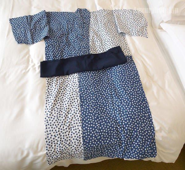 アンダーズ 東京の浴衣を広げてみた
