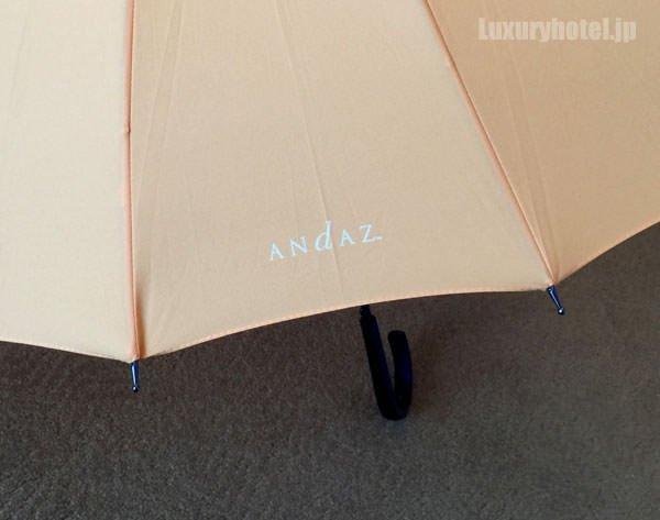 傘にはロゴマークが2種類入っている