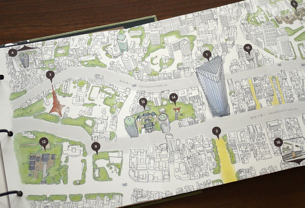案内冊子には虎ノ門近辺の地図もある