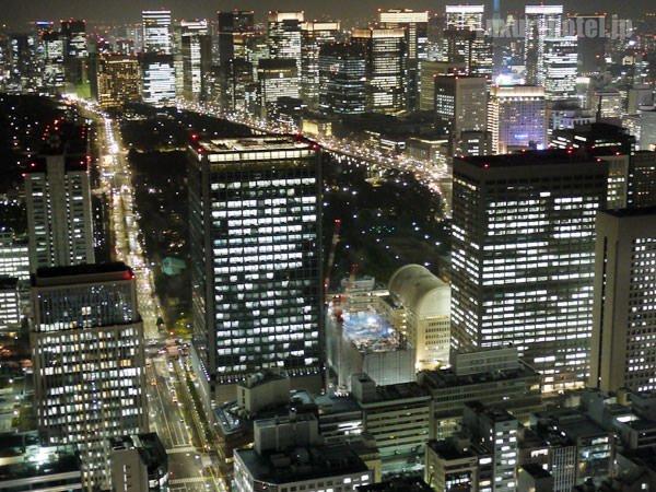 アンダーズ 東京の部屋から見える夜景 その1