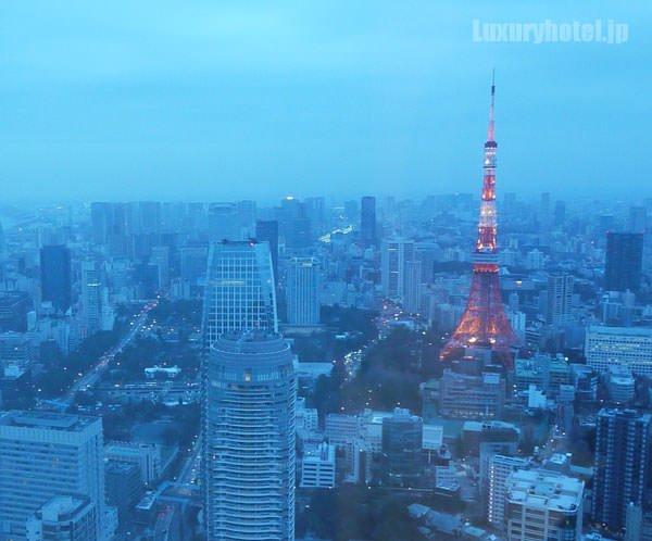 51Fから見た朝の東京タワーの景色