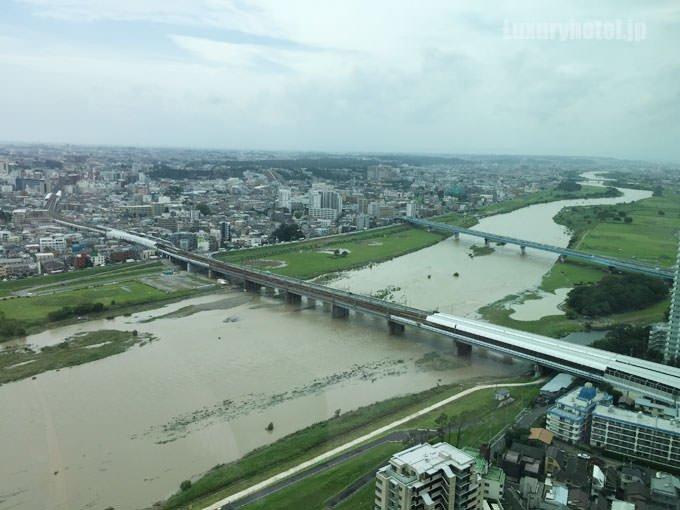 二子玉川エクセルホテル東急 リバービューツインからの景色