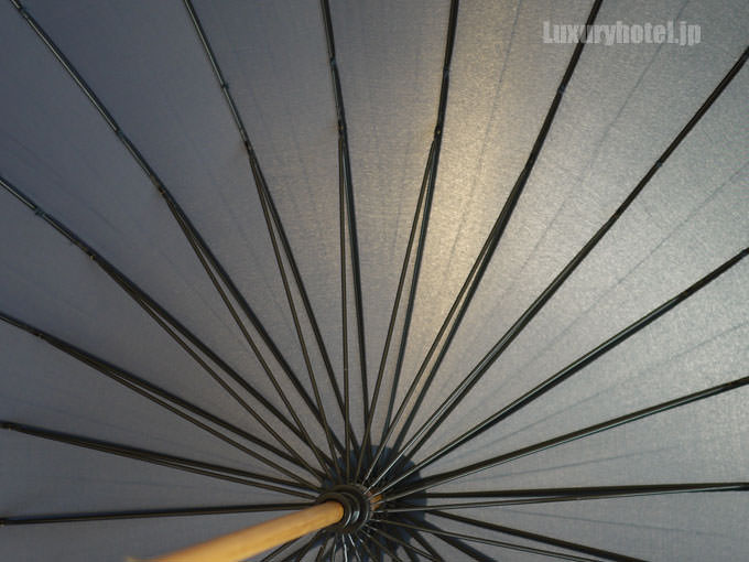 傘は骨が多くしっかりした作り
