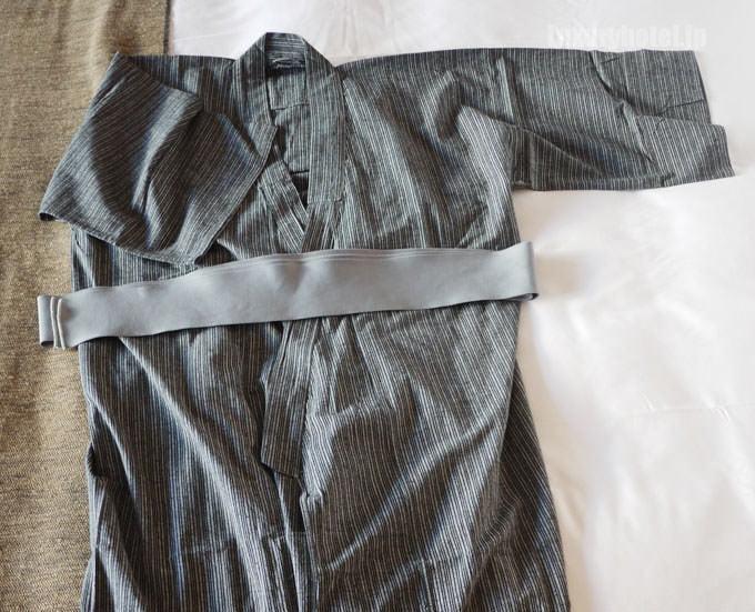 アマン東京の浴衣をひろげてみた