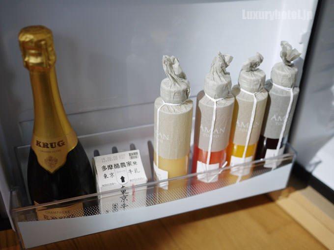 冷蔵庫の扉にある飲料は有料