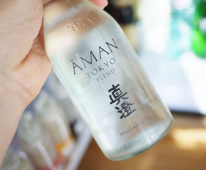 アマン東京オリジナルの日本酒 真澄