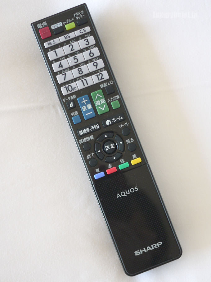 こちらはテレビのチャンネルのリモコン
