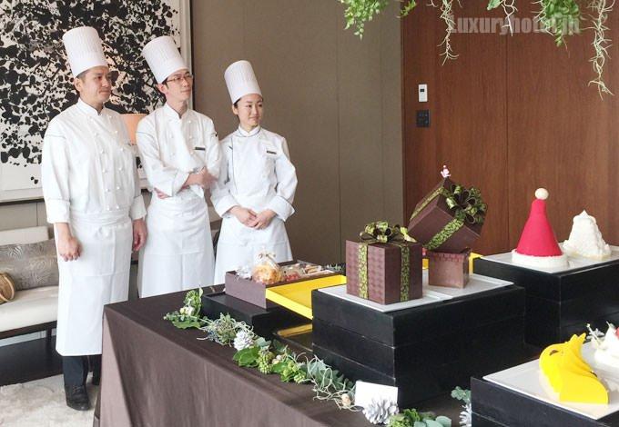 パレスホテル東京 クリスマスケーキとシェフ