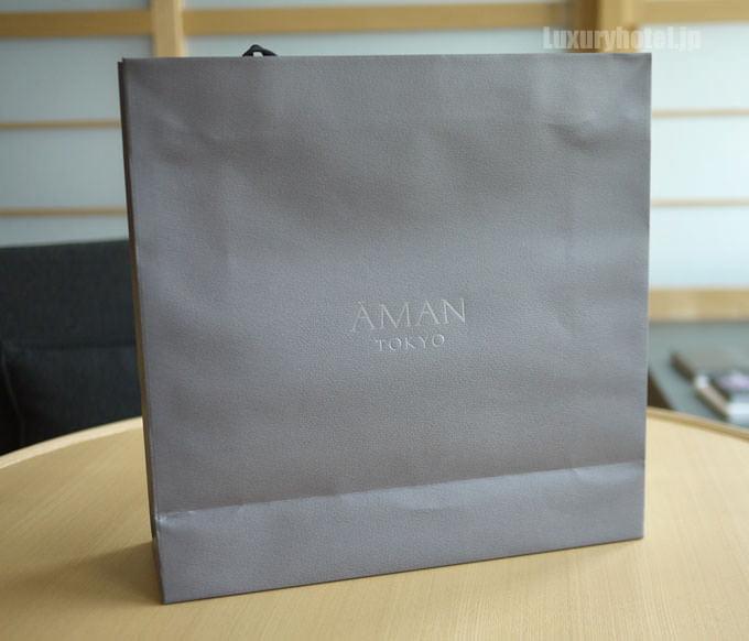 スパでもらったアマン東京の紙袋