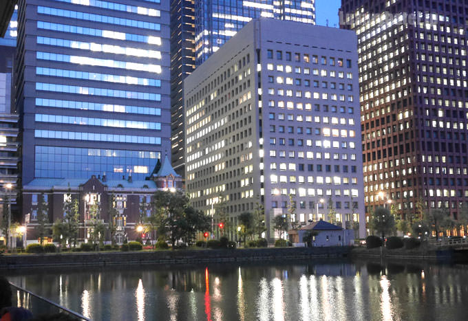 パレスホテル東京 グランド キッチン テラス席からの景色