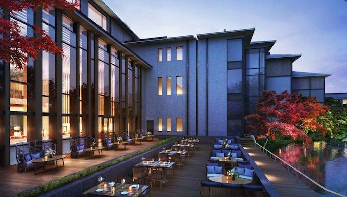 フォーシーズンズホテル京都 ブラッスリーのテラス席がすごい