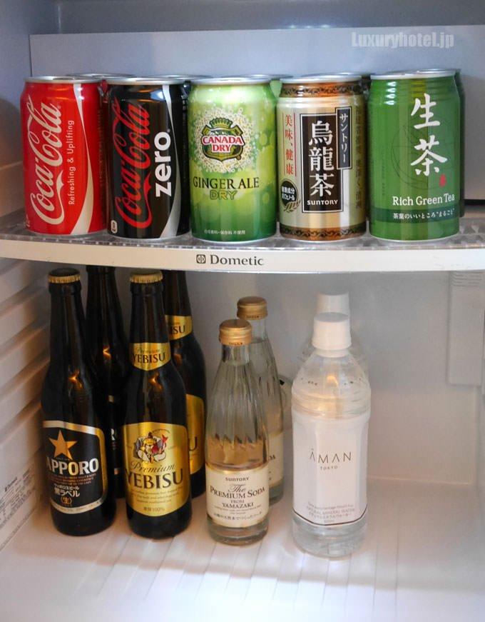 冷蔵庫の中身 日本のメーカーが多い