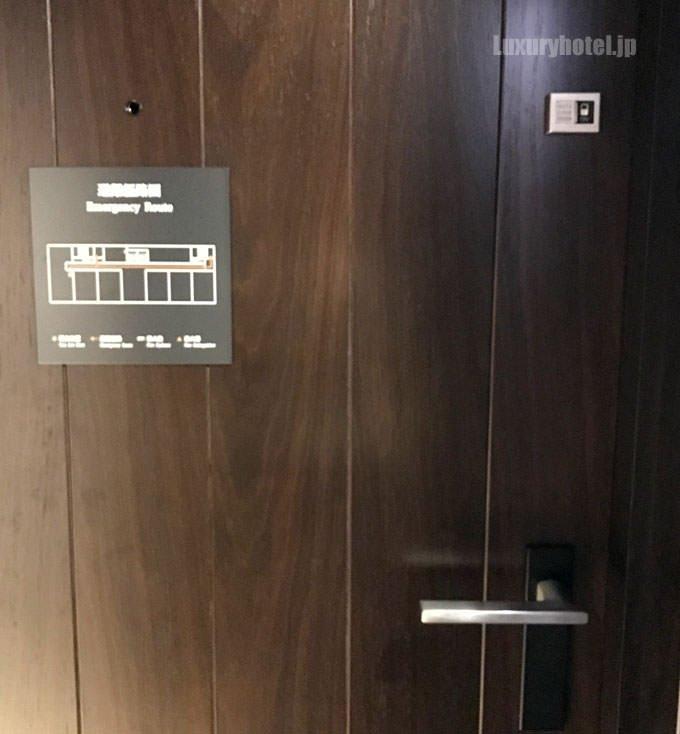 ドアの右上にオートロックのオンオフ切替機能