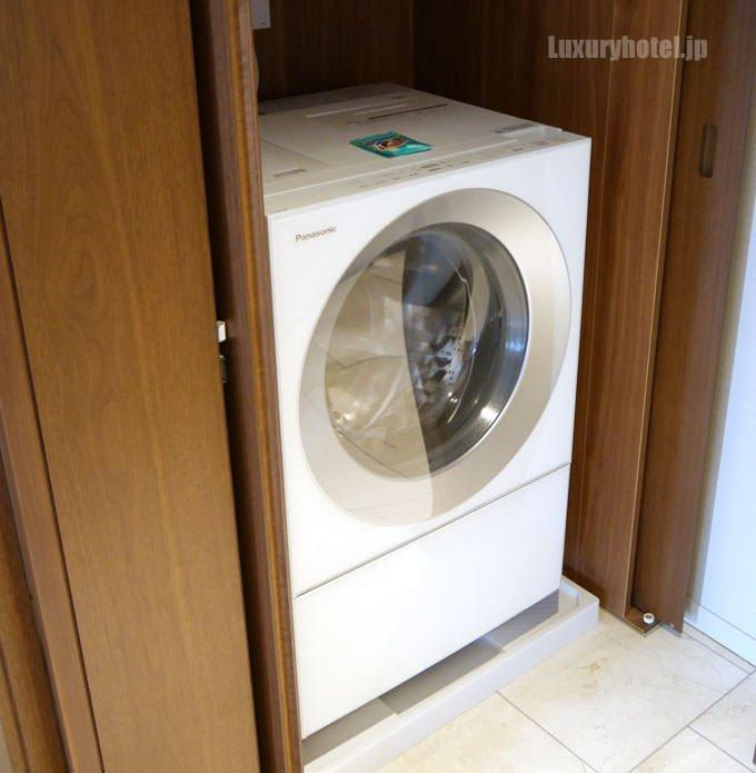 洗濯機も備え付けてある