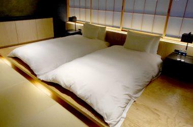 星のや東京「菊」のベッドルーム